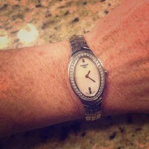 Tissot Women's T47.1.685.51 Oval-T Diamond Watch